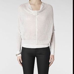 Sweaters - All Saints ERNST COWL KNIT JUMPER IN NATURAL